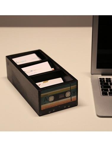 Cassette 3 Bölmeli Masaüstü Aksesuarı-Dekorazon